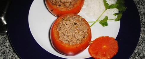 Tomate com carne de novilho estufada