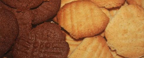 Bolachas de Chocolate e de Amêndoa