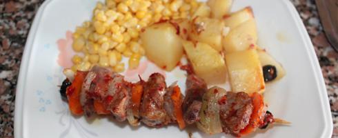 Receitas de espetadas de porco