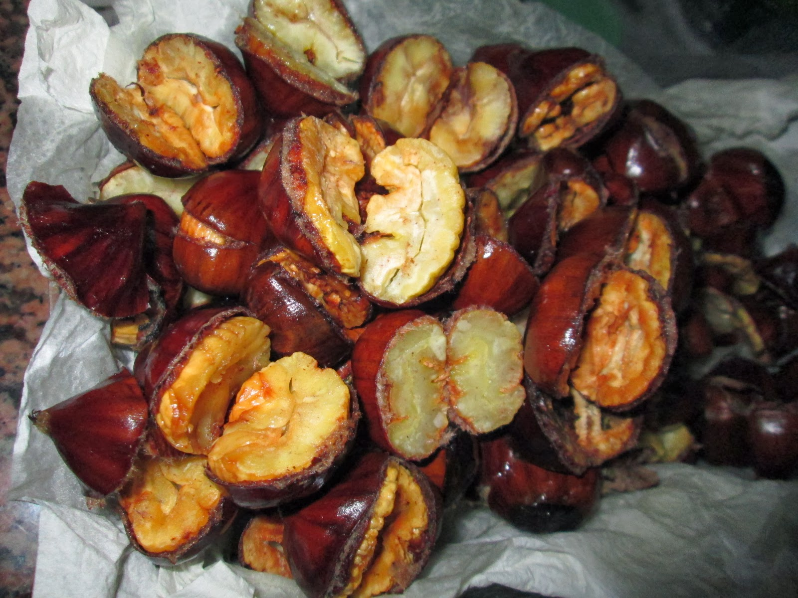 Castanhas Fritas com Batatas