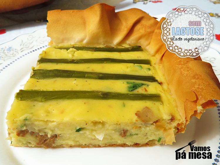 Tarte de Batata e Espargos (Jamie Oliver)