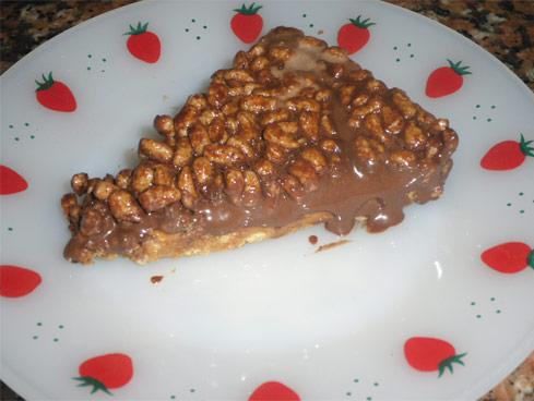 Mousse de Bombons de Chocolate com Arroz Tufado